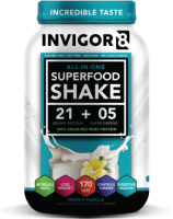 BRL INVIGOR8 Superfood Shake - Vanilla - 645 grams